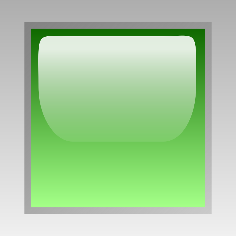 Clipart Led Square Green