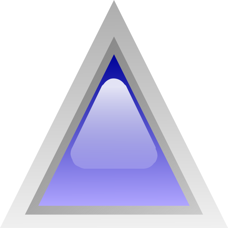led triangular blue by Anonymous - Glossy button by Jean-Victor Bain. From OCAL 0.18 release.