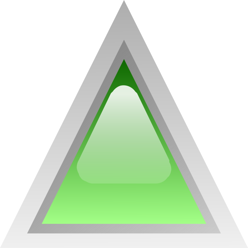 led triangular green by Anonymous - Glossy button by Jean-Victor Bain. From OCAL 0.18 release.