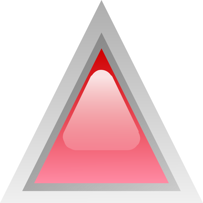 led triangular red  by Anonymous - Glossy button by Jean-Victor Bain. From OCAL 0.18 release.