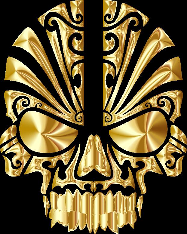 clipart tribal skull silhouette 2 gold no bg scary clip art logos scary clip art silhouette