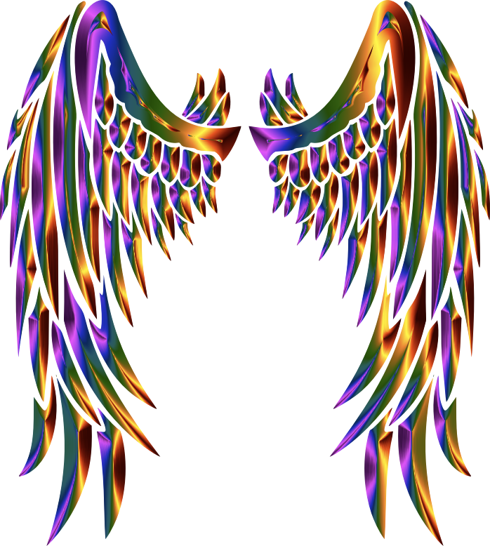 clipart chromatic angel wings wings clipart transparent wings clipart coat of arms