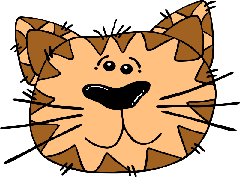 "Cartoon Cat Face by Gerald_G - Uploaded by ""World Label"" for conversion to SVG and publication on OCAL."