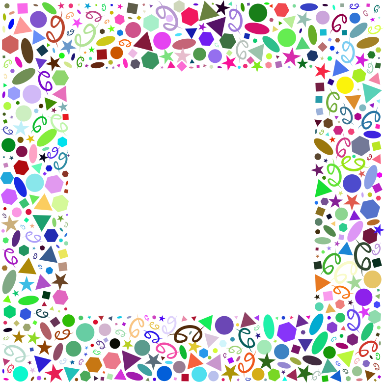 Clipart Abstract Geometric Party Frame Prismatic