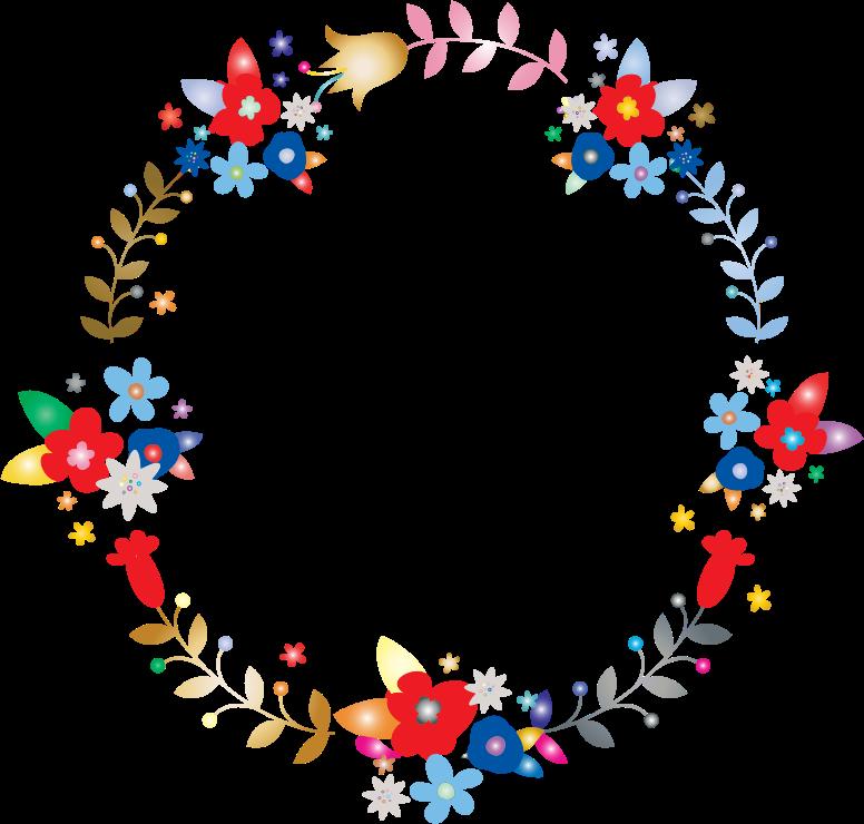 clipart floral wreath by barbaraalane prismatic clip art rainbow tree clip art rainbow bridge