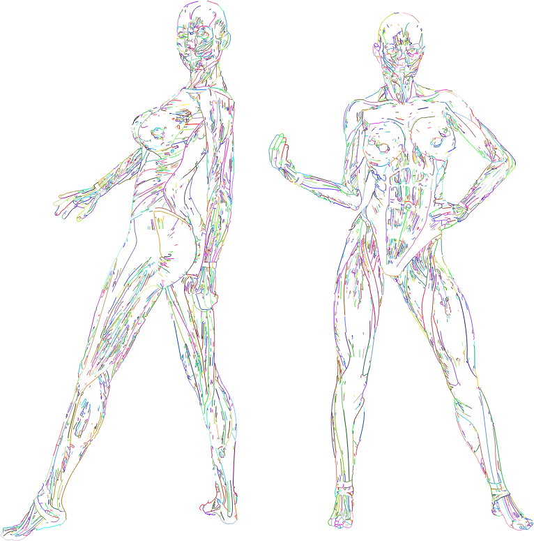 clipart muscular women line art prismatic no bg strong clipart black and white strong clipart black and white