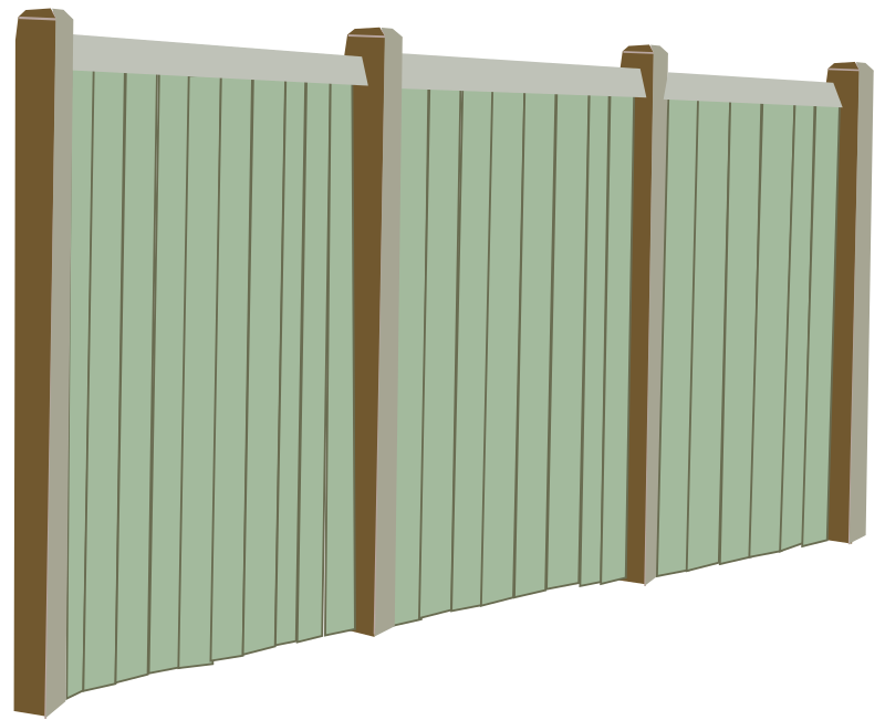 Wood Fence by rfc1394b - A typical wood privacy fence