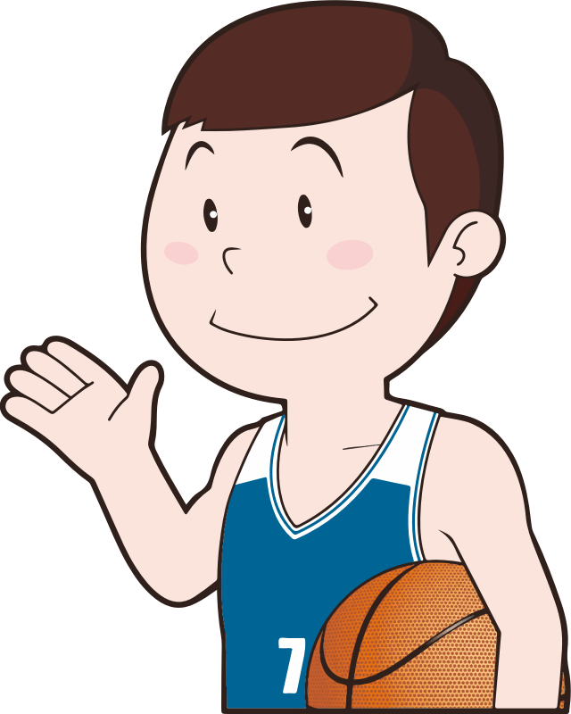 clipart basketball player   3 sports clip art black and white sports clipart to color