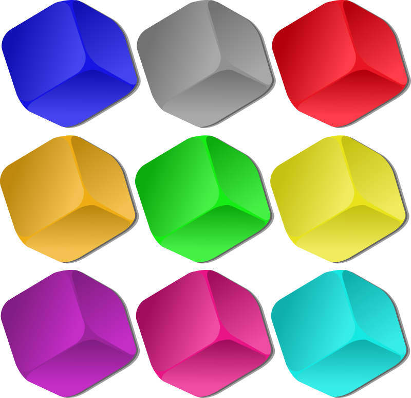 Game Marbles - cubes by nicubunu - colored cubes, can be used as marbles in a game