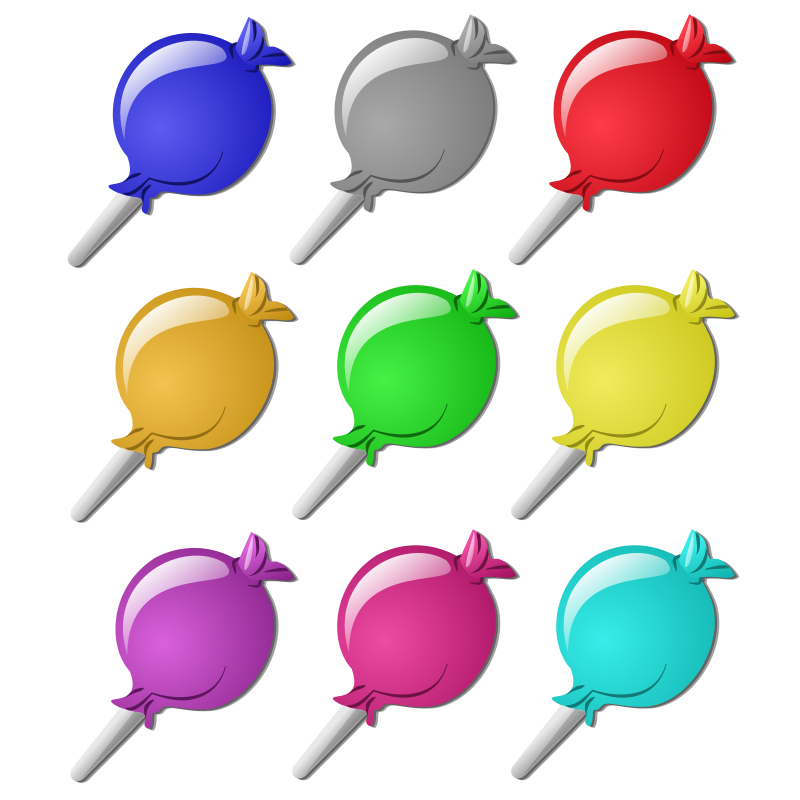 Game marbles - candies by nicubunu - colored marbles, may be used in a game.