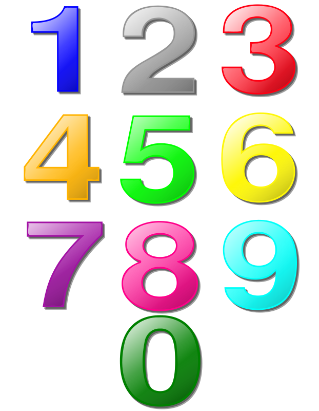 Game marbles - digits by nicubunu - colored digits, can be used as game marbles (sudoku?)
