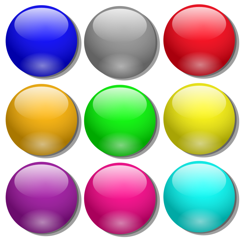 Game marbles - simple dots by nicubunu - colored simple dots, can be used as game marbles