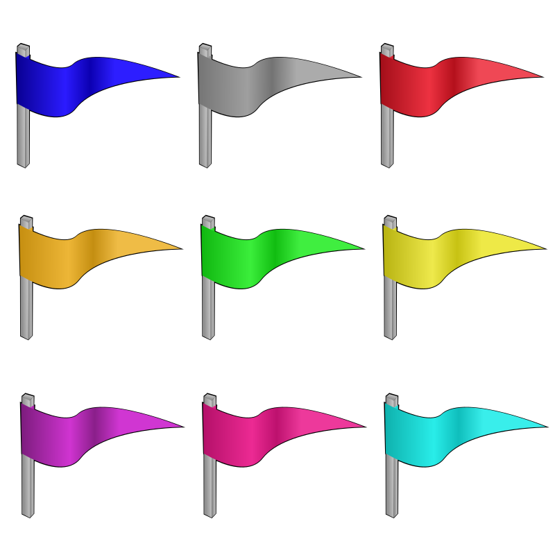 Game marbles - flags by nicubunu - colored flags, can be used as game marbles