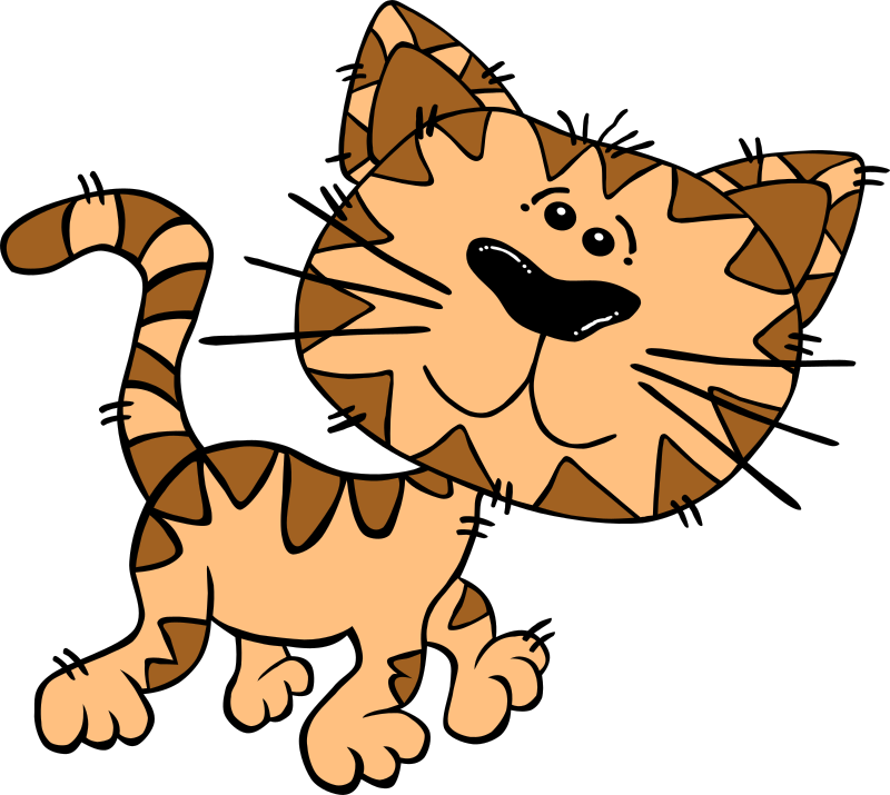"Cartoon Cat Walking by Gerald_G - Uploaded by ""World Label"" for conversion to SVG and publication on OCAL. Added body in similar style."