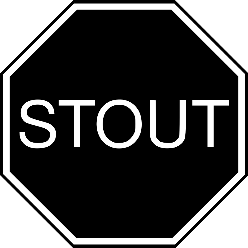 Stout Traffic Signal by amolapacificapaloma - A black STOUT signal.