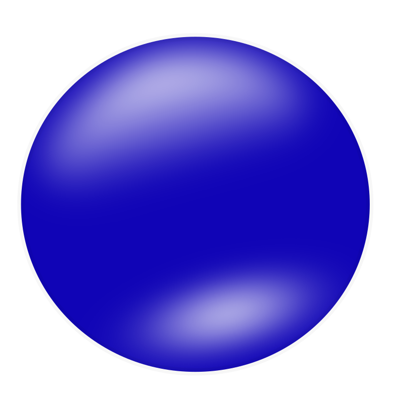 blue circle by nlyl - A blue circle. Inspired by Molumen's splashscreen submission, so I wanted to experiment with some shapes and shading.