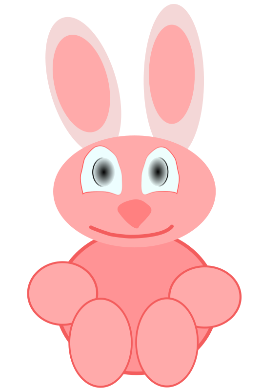 "baby rabbit by brennino - It's my first vector work for the born of a baby named: ""Carola"""