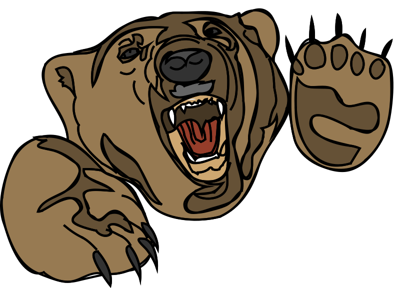 Growling Bear (orso 11) by francesco_rollandin