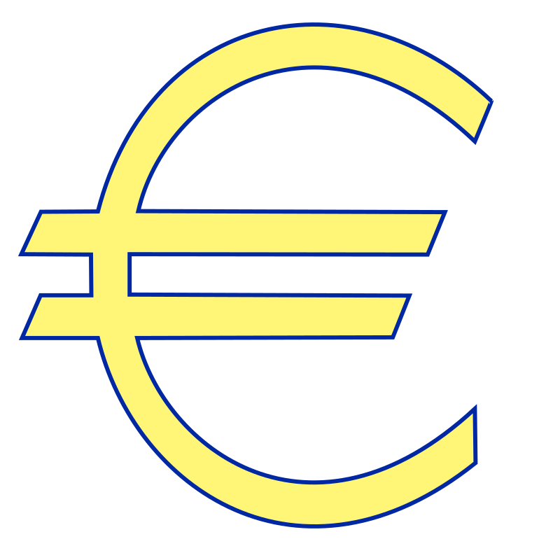 Clipart - Money euro symbol