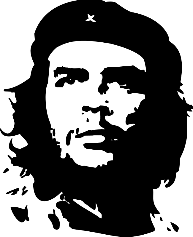 Che Guevara by Archie - popular portrait of Che Guevara with cap, inspire from the Korda's photography