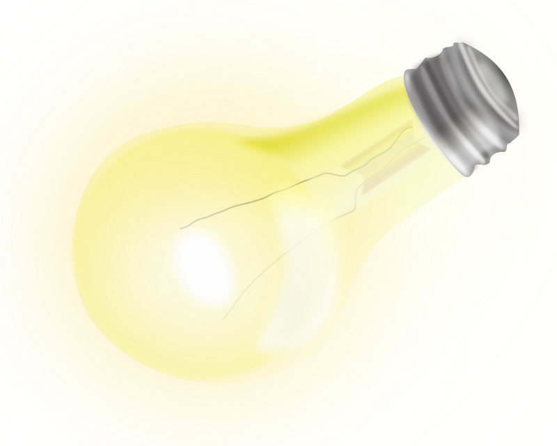Nice Light Bulb by gatuus - A nice colourful light bulb, made with inkscape using extensively the new blur feature. Old versions of inkscape and maybe the firefox browser could not show the SVG correctly. Try the PNG version instead. Probably, but just probably not safe for work.