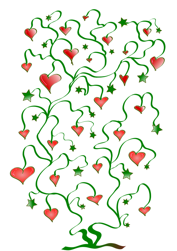 Tree of Hearts with Leaves of Stars by pfluegl - fictional tree of hearts with leaves of stars symbolizing love and the creative power of nature