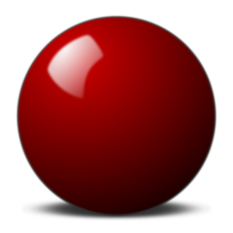 Red snooker ball by Stellaris