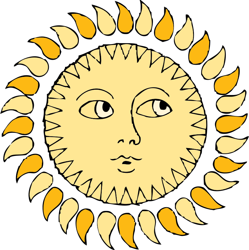 sun by johnny_automatic - a colored drawing of the sun.  US government PD