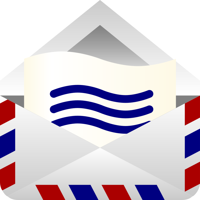 Air mail envelope by barretr