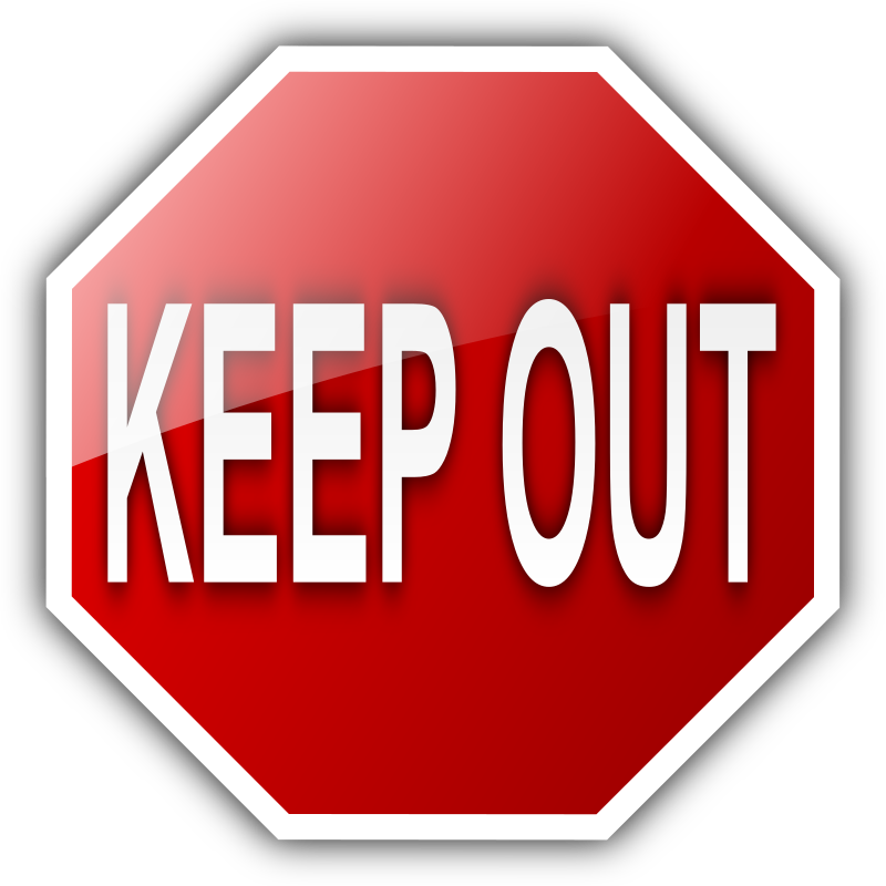 KEEP OUT by Aquatic - KEEP OUT! Made in Inkscape 0.47