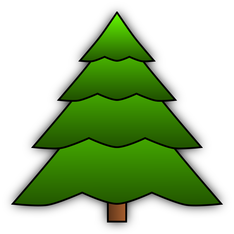 Simple Spruce by Aquatic - A simple spruce made in Inkscape 0.47