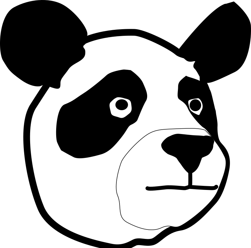 Panda Head by rejon - This is a panda bear that is cute.