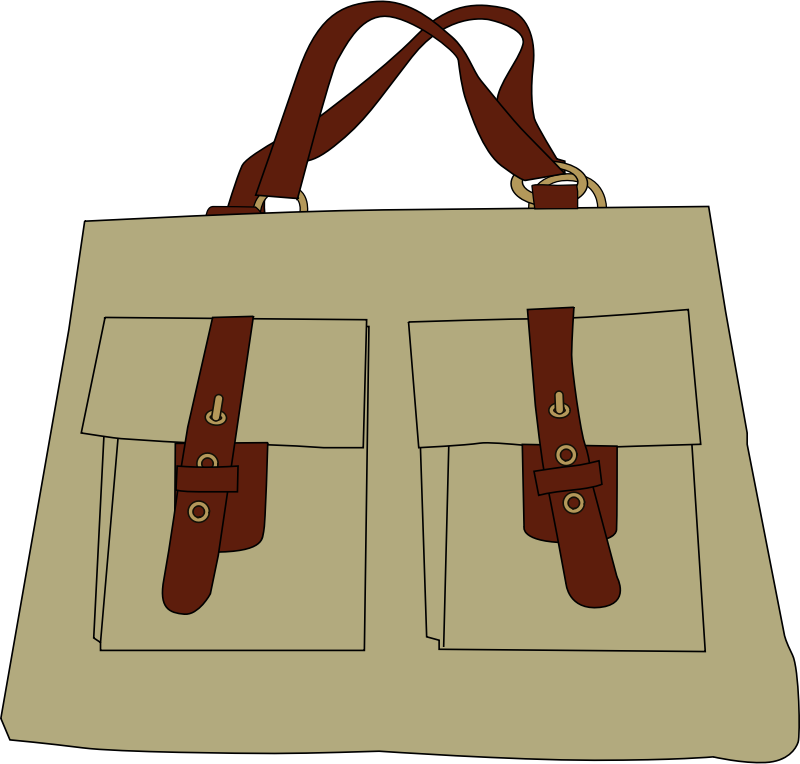 bag by johnny_automatic - drawing of a hand bag