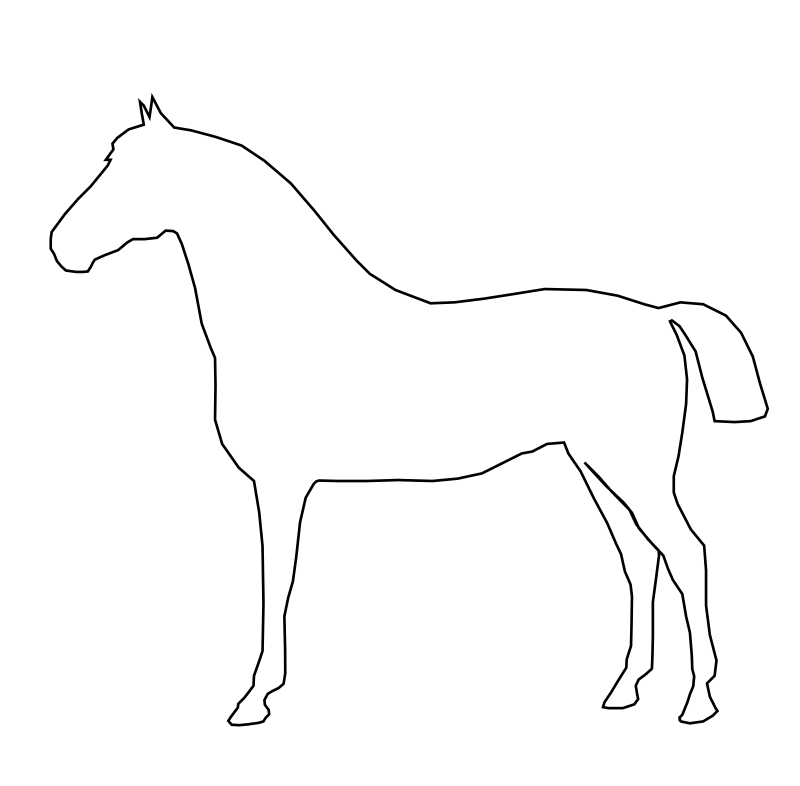 Simple Horse by gingercoons - A very simple horse, no detailing, just an outline.