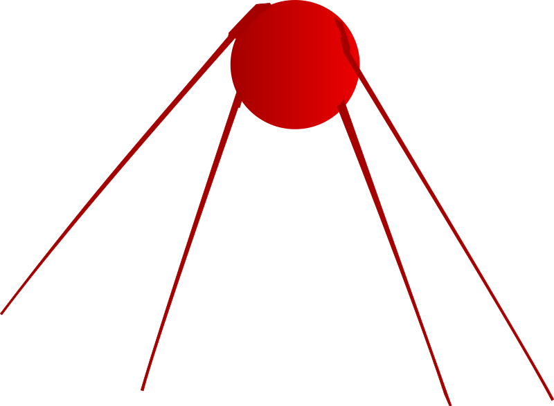 Sputnik by fzap - Sputnik satellite in red.