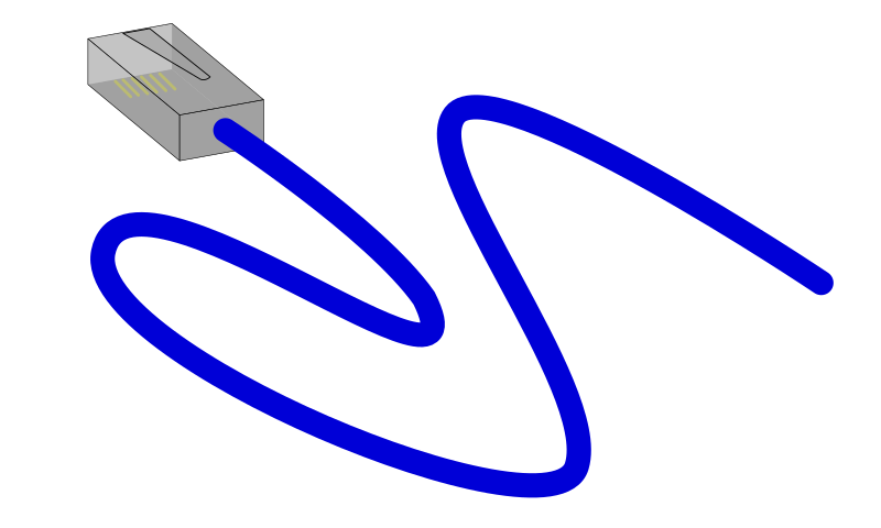 Ethernet Cable by bnielsen - An ethernet cable with an RJ45 connector.