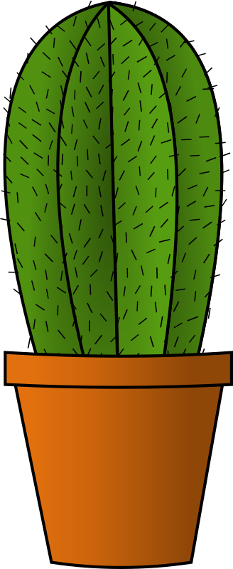 Cactus by freedo - A simple cactus in a flowerpot