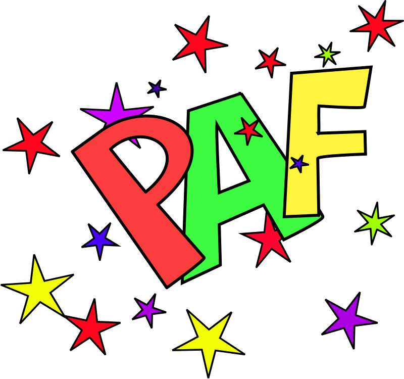 Paf by dominiquechappard - Paf sound representation with stars.