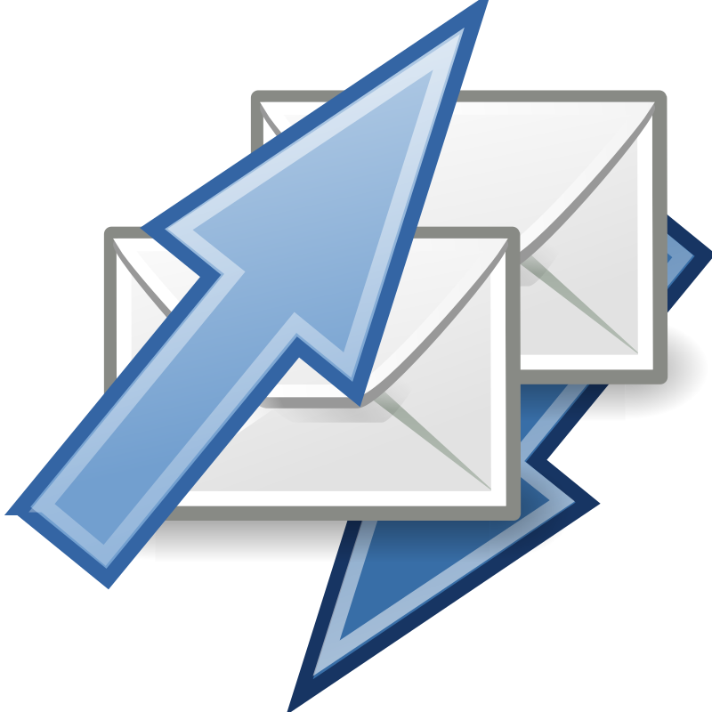 "tango mail send receive by warszawianka - ""Mail send/receive"" icon from <a href=""http://tango.freedesktop.org/Tango_Desktop_Project""> Tango Project </a> 