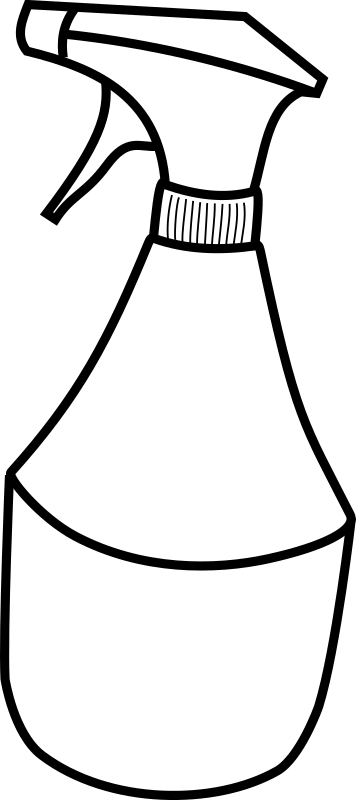 squirt bottle by SRD - Line-drawing of a squirt bottle.