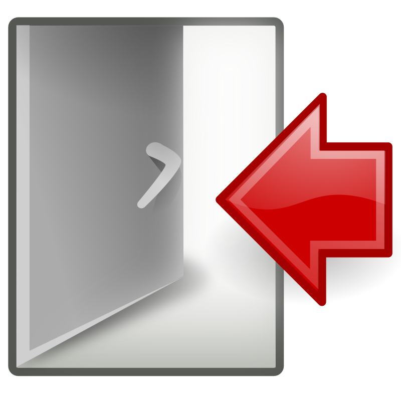 "tango system log out by warszawianka - ""Log out"" icon from <a href=""http://tango.freedesktop.org/Tango_Desktop_Project""> Tango Project </a> 