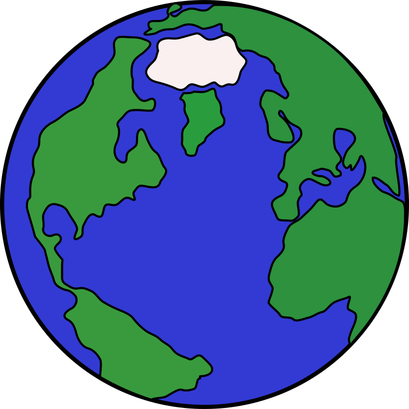 Cartoon Globe by lunanaut