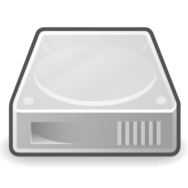 "tango drive hard disk by warszawianka - ""Hard disk"" icon from <a href=""http://tango.freedesktop.org/Tango_Desktop_Project""> Tango Project </a> 