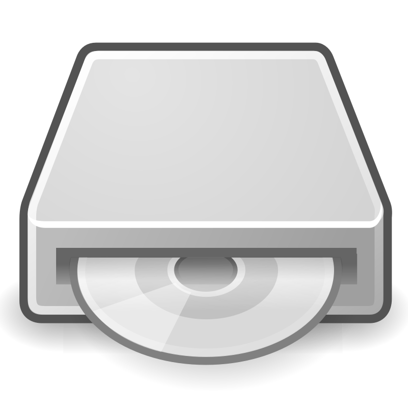 "tango drive optical by warszawianka - ""Optical drive"" (CD/DVD drive) icon from <a href=""http://tango.freedesktop.org/Tango_Desktop_Project""> Tango Project </a> 