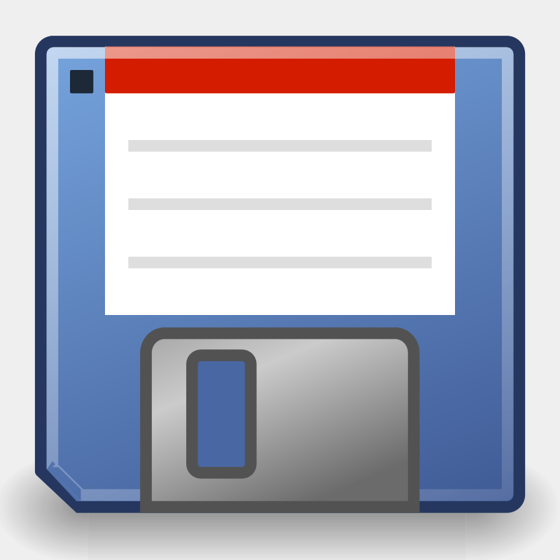 "tango media floppy by warszawianka - ""Floppy disk"" icon from <a href=""http://tango.freedesktop.org/Tango_Desktop_Project""> Tango Project </a> 