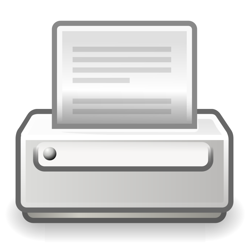 "tango printer by warszawianka - ""Printer"" icon from Tango Project (http://tango.freedesktop.org/Tango_Desktop_Project ) Since version 0.8.90 Tango Project icons are Public Domain. See the FAQ: http://tango.freedesktop.org/Frequently_Asked_Questions#Terms_of_Use.3F"