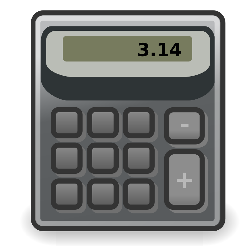 "tango accessories calculator by warszawianka - ""Calculator"" icon from <a href=""http://tango.freedesktop.org/Tango_Desktop_Project""> Tango Project </a> 