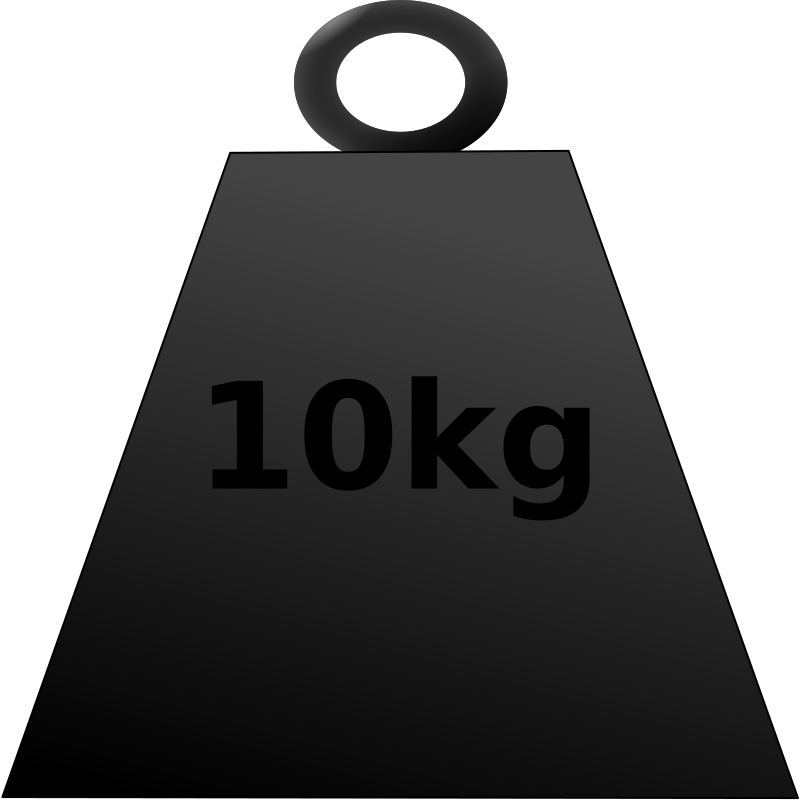 10 kg weight by klaasvangend - This is another 10kg weight - this time in front view.
