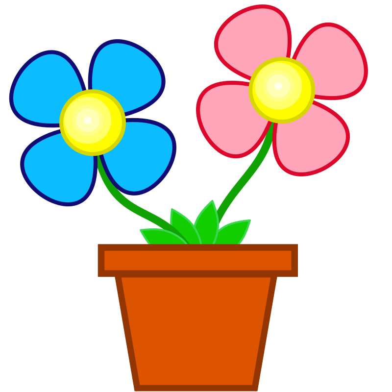 Flowers by stuuf - two flowers in a pot