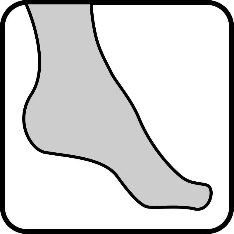 Architetto - pantyhose foot 2 by francesco_rollandin - Drawing by Francesco 'Architetto' Rollandin. From OCAL 0.18 release.